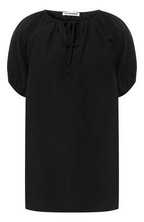 Женская топ из вискозы и льна JIL SANDER черного цвета, арт. JSCR560606-WR391000 | Фото 1