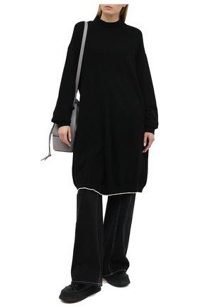 Женский шерстяной пуловер Y`S черного цвета, арт. YR-T02-160   Фото 2