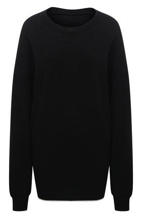 Женский шерстяной пуловер Y`S черного цвета, арт. YR-T01-160   Фото 1