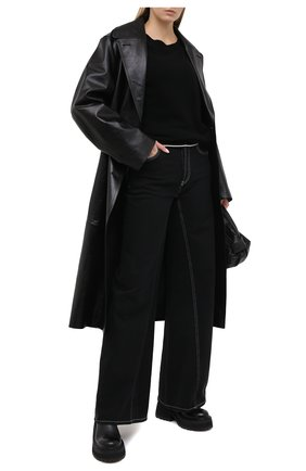 Женский шерстяной пуловер Y`S черного цвета, арт. YR-T01-160 | Фото 2