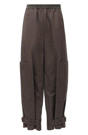 Женские хлопковая брюки Y`S хаки цвета, арт. YR-P46-033   Фото 1