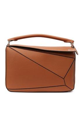 Женская сумка puzzle large LOEWE коричневого цвета, арт. 322.30.S19 | Фото 1