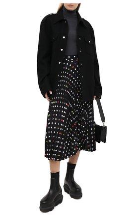 Женская плиссированная юбка CHRISTOPHER KANE черного цвета, арт. PF20 SK1310 P0LKA D0T P0LY CADY | Фото 2
