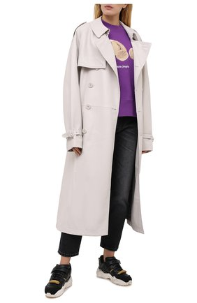 Женская хлопковый свитшот PALM ANGELS фиолетового цвета, арт. PWBA017F20FLE0013760 | Фото 2