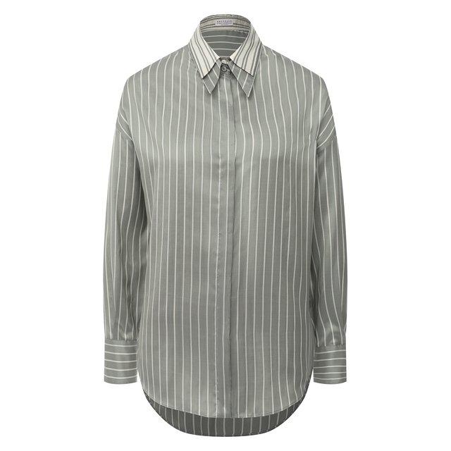 Шелковая рубашка Brunello Cucinelli