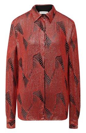 Женская блузка из вискозы DRIES VAN NOTEN красного цвета, арт. 202-10766-1422 | Фото 1