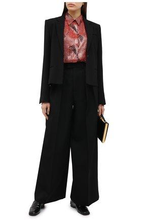 Женская блузка из вискозы DRIES VAN NOTEN красного цвета, арт. 202-10766-1422 | Фото 2