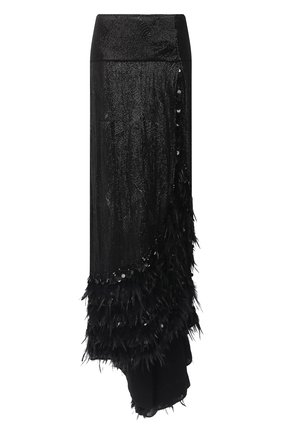 Женская юбка из вискозы DRIES VAN NOTEN черного цвета, арт. 202-10893-1422   Фото 1