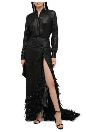 Женская юбка из вискозы DRIES VAN NOTEN черного цвета, арт. 202-10893-1422   Фото 2
