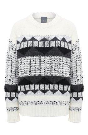 Женский шерстяной свитер LORENA ANTONIAZZI черно-белого цвета, арт. I2051GM010/328 | Фото 1