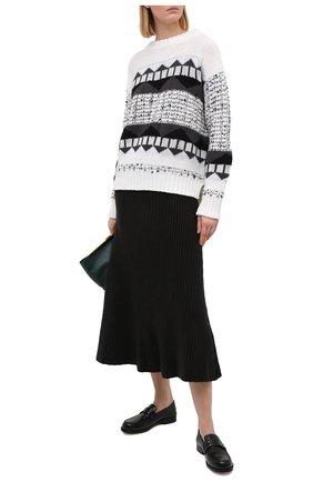 Женский шерстяной свитер LORENA ANTONIAZZI черно-белого цвета, арт. I2051GM010/328 | Фото 2