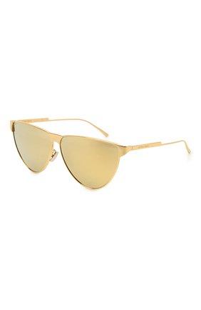 Женские солнцезащитные очки BOTTEGA VENETA золотого цвета, арт. BV1070S | Фото 1