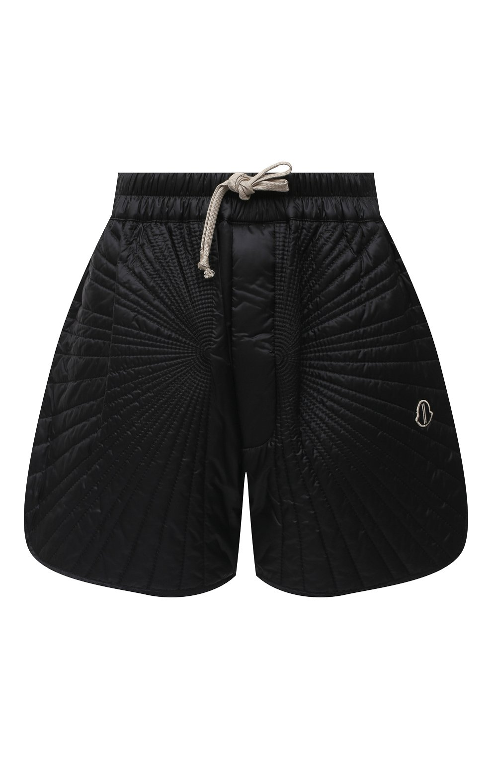 Женские шорты moncler + rick owens RICK OWENS черного цвета, арт. MU20F0023/C0596 | Фото 1 (Длина Ж (юбки, платья, шорты): Мини; Кросс-КТ: Спорт; Материал внешний: Синтетический материал; Женское Кросс-КТ: Шорты-спорт; Стили: Спорт-шик, Кэжуэл; Материал подклада: Синтетический материал; Материал утеплителя: Пух и перо)