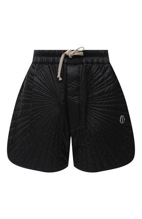 Женские шорты moncler + rick owens RICK OWENS черного цвета, арт. MU20F0023/C0596 | Фото 1