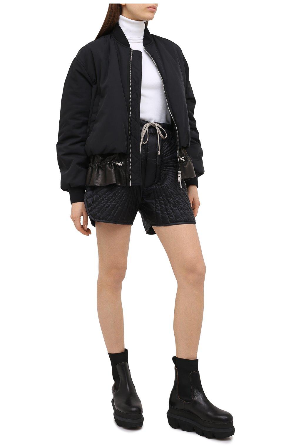 Женские шорты moncler + rick owens RICK OWENS черного цвета, арт. MU20F0023/C0596 | Фото 2 (Длина Ж (юбки, платья, шорты): Мини; Кросс-КТ: Спорт; Материал внешний: Синтетический материал; Женское Кросс-КТ: Шорты-спорт; Стили: Спорт-шик, Кэжуэл; Материал подклада: Синтетический материал; Материал утеплителя: Пух и перо)