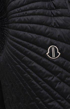 Женские шорты moncler + rick owens RICK OWENS черного цвета, арт. MU20F0023/C0596 | Фото 5 (Длина Ж (юбки, платья, шорты): Мини; Кросс-КТ: Спорт; Материал внешний: Синтетический материал; Женское Кросс-КТ: Шорты-спорт; Стили: Спорт-шик, Кэжуэл; Материал подклада: Синтетический материал; Материал утеплителя: Пух и перо)