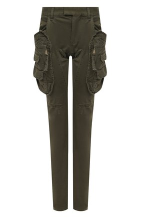 Женские хлопковые брюки DSQUARED2 хаки цвета, арт. S72KA1029/S39021 | Фото 1