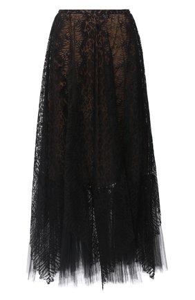 Женская юбка ZUHAIR MURAD черного цвета, арт. SKP20016/LMIX007   Фото 1
