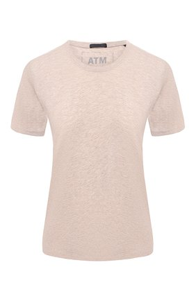 Женская футболка ATM ANTHONY THOMAS MELILLO бежевого цвета, арт. AW1145-EAL | Фото 1