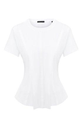 Женская хлопковая футболка ATM ANTHONY THOMAS MELILLO белого цвета, арт. AW1408-GAB | Фото 1