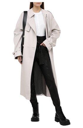 Женская хлопковая футболка ATM ANTHONY THOMAS MELILLO белого цвета, арт. AW1408-GAB | Фото 2