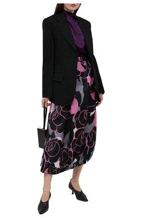 Женская шелковая юбка GIORGIO ARMANI розового цвета, арт. 0WHNN04D/T0272 | Фото 2