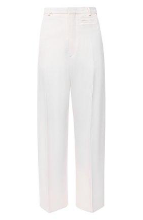 Женские брюки из шерсти и вискозы JACQUEMUS белого цвета, арт. 203PA04/120110 | Фото 1