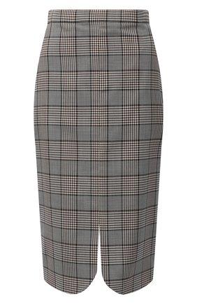 Женская шерстяная юбка BURBERRY серого цвета, арт. 4566215 | Фото 1