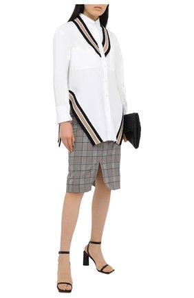 Женская шерстяная юбка BURBERRY серого цвета, арт. 4566215 | Фото 2