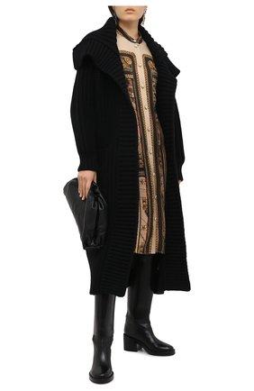Женский кардиган из шерсти и кашемира DOLCE & GABBANA черного цвета, арт. FXB11T/JBME2 | Фото 2