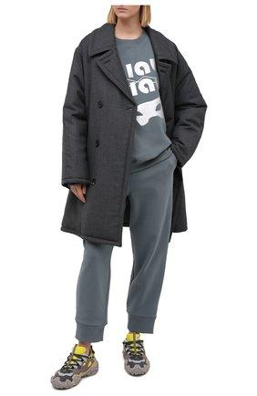 Женская хлопковый свитшот 5PREVIEW серого цвета, арт. X350 | Фото 2