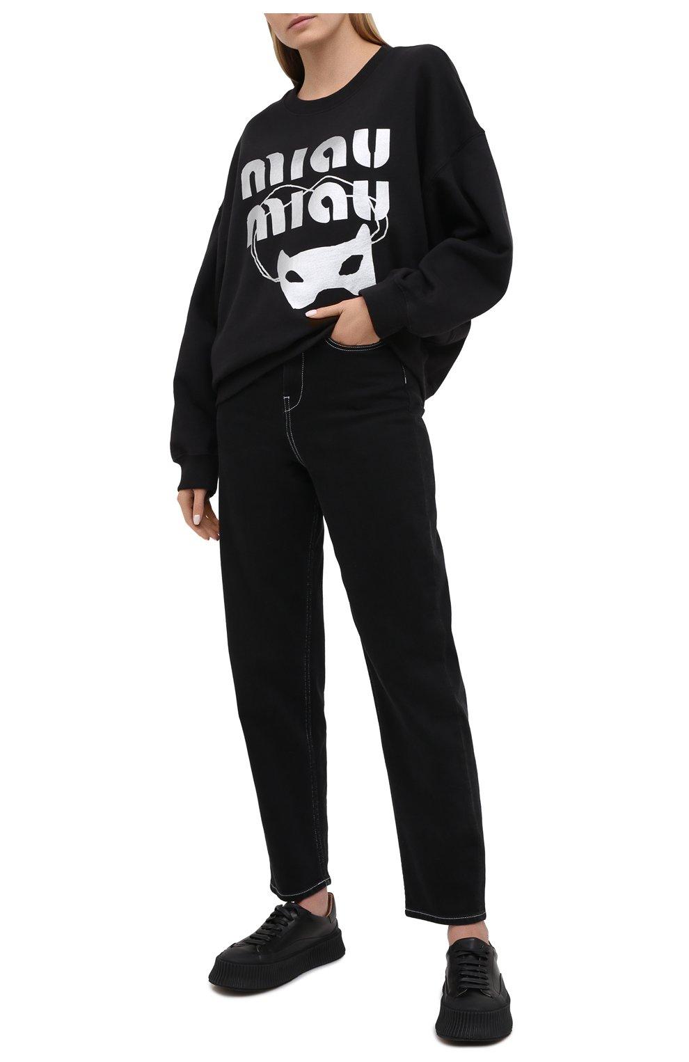 Женский хлопковый свитшот 5PREVIEW черного цвета, арт. X350   Фото 2