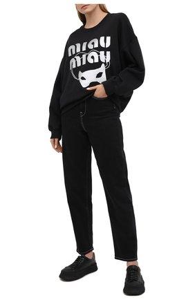 Женская хлопковый свитшот 5PREVIEW черного цвета, арт. X350 | Фото 2