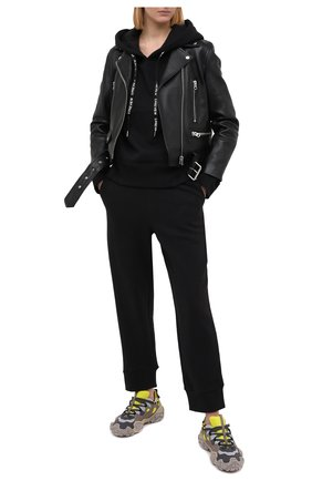 Женская хлопковое худи 5PREVIEW черного цвета, арт. X354 | Фото 2