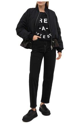 Женская хлопковый свитшот 5PREVIEW черного цвета, арт. XPA350 | Фото 2