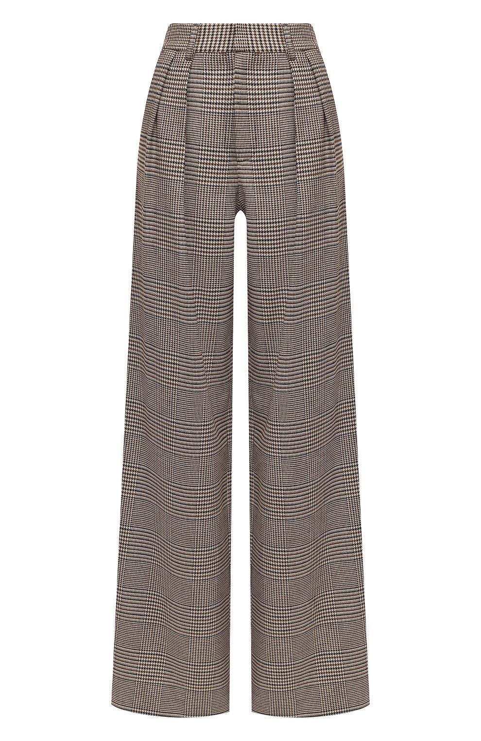 Женские брюки ALICE + OLIVIA коричневого цвета, арт. CL000R04107   Фото 1