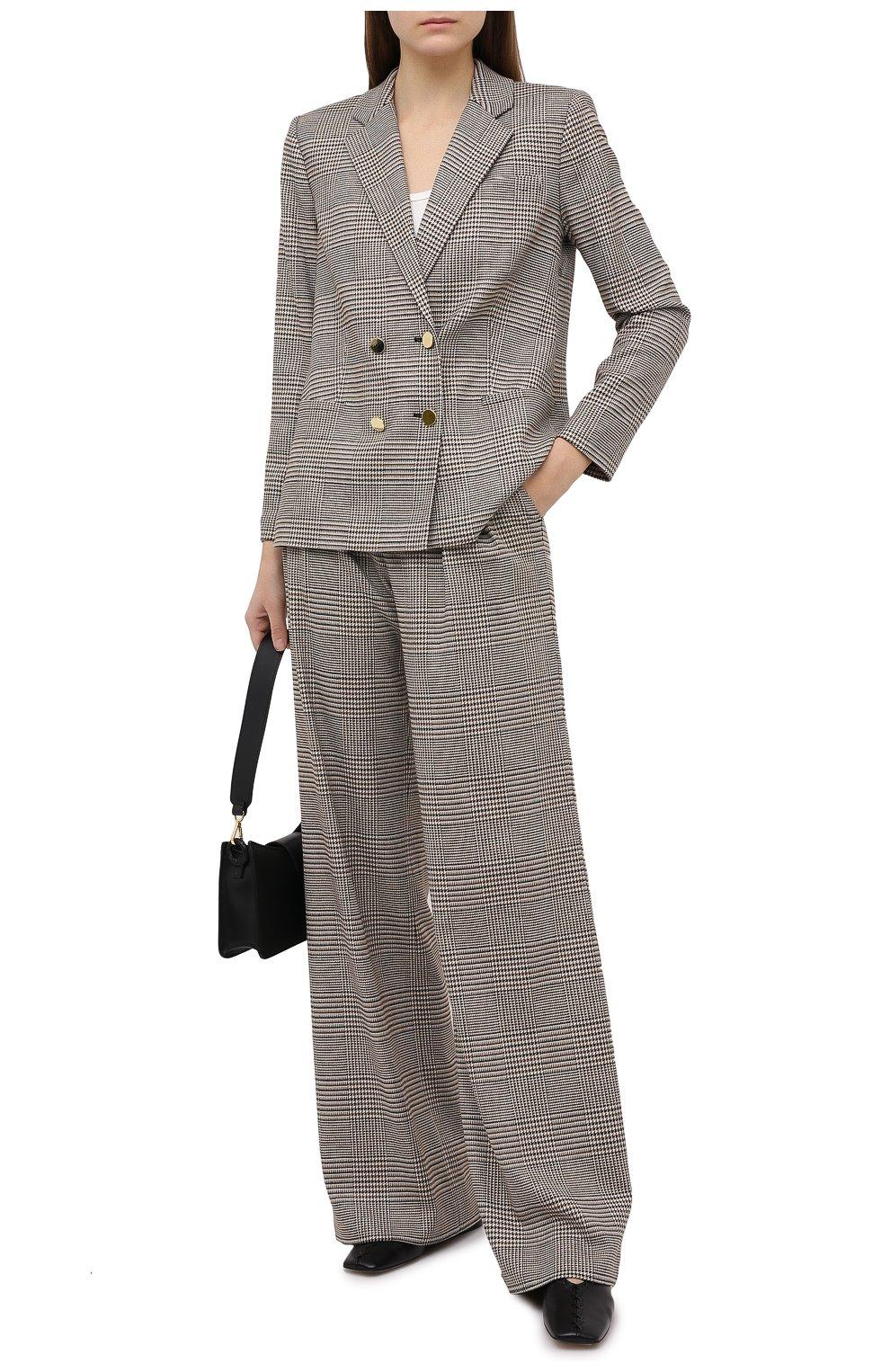 Женские брюки ALICE + OLIVIA коричневого цвета, арт. CL000R04107   Фото 2