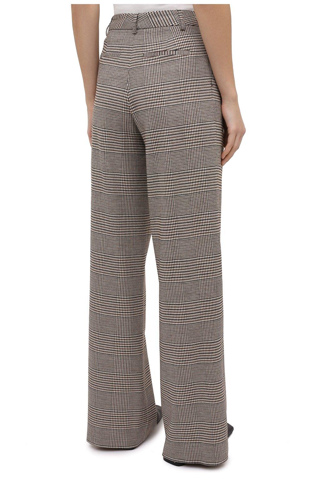 Женские брюки ALICE + OLIVIA коричневого цвета, арт. CL000R04107   Фото 4