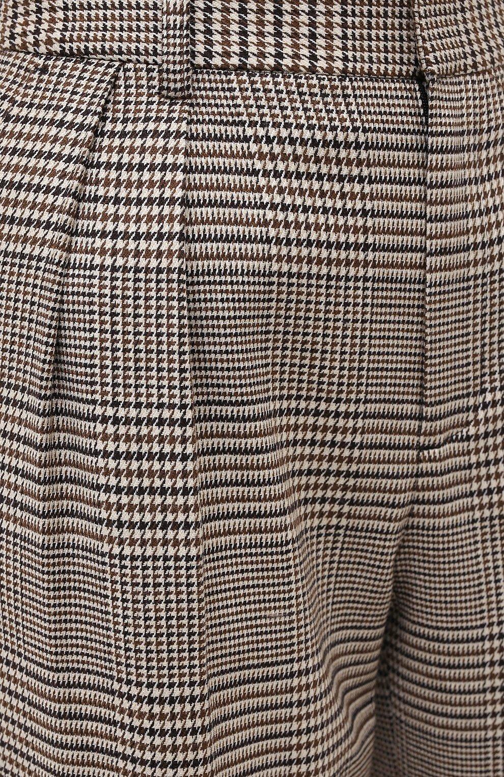 Женские брюки ALICE + OLIVIA коричневого цвета, арт. CL000R04107   Фото 5
