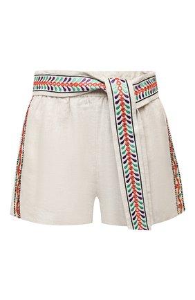 Женские льняные шорты ALICE + OLIVIA бежевого цвета, арт. CC005D55608 | Фото 1