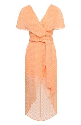 Женское платье из шелка и хлопка ALICE + OLIVIA оранжевого цвета, арт. CC004T11544 | Фото 1