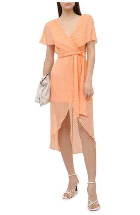 Женское платье из шелка и хлопка ALICE + OLIVIA оранжевого цвета, арт. CC004T11544 | Фото 2