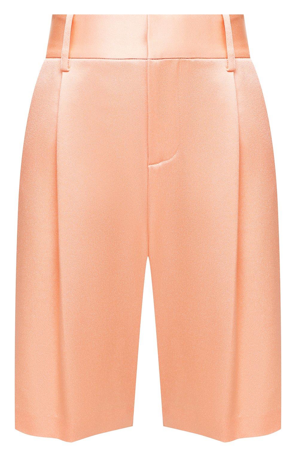 Женские шорты ALICE + OLIVIA оранжевого цвета, арт. CC004205610   Фото 1 (Женское Кросс-КТ: Шорты-одежда; Стили: Гламурный; Материал внешний: Синтетический материал; Длина Ж (юбки, платья, шорты): Миди)