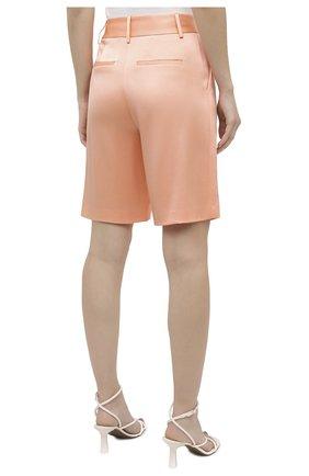 Женские шорты ALICE + OLIVIA оранжевого цвета, арт. CC004205610   Фото 4 (Женское Кросс-КТ: Шорты-одежда; Стили: Гламурный; Материал внешний: Синтетический материал; Длина Ж (юбки, платья, шорты): Миди)