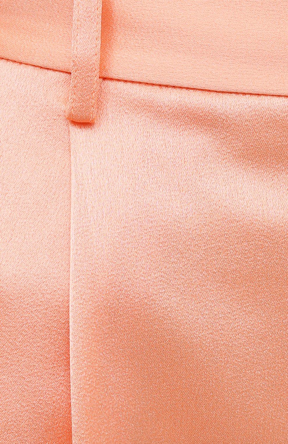 Женские шорты ALICE + OLIVIA оранжевого цвета, арт. CC004205610   Фото 5 (Женское Кросс-КТ: Шорты-одежда; Стили: Гламурный; Материал внешний: Синтетический материал; Длина Ж (юбки, платья, шорты): Миди)
