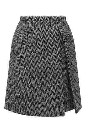 Женская шерстяная юбка VALENTINO черно-белого цвета, арт. UB0RA705621 | Фото 1