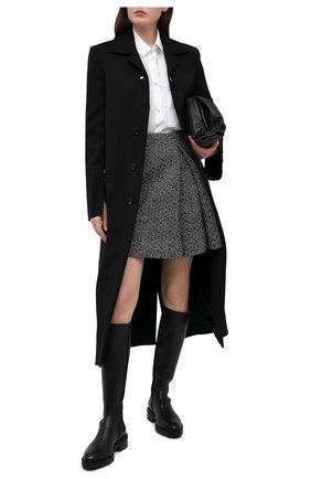 Женская шерстяная юбка VALENTINO черно-белого цвета, арт. UB0RA705621 | Фото 2
