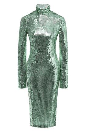 Женское платье с пайетками GALVAN LONDON зеленого цвета, арт. CD1070 MIRR0R SEQUIN | Фото 1