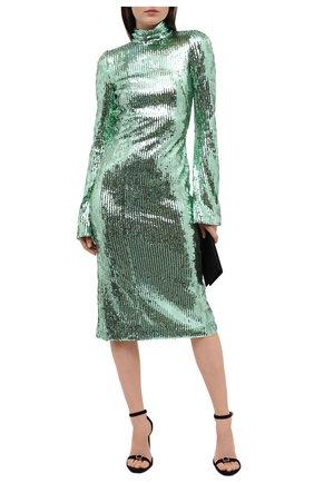 Женское платье с пайетками GALVAN LONDON зеленого цвета, арт. CD1070 MIRR0R SEQUIN | Фото 2