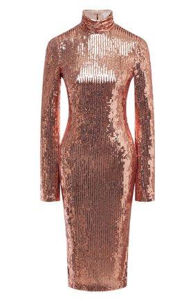 Женское платье с пайетками GALVAN LONDON золотого цвета, арт. CD1070 MIRR0R SEQUIN | Фото 1